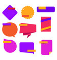 colorful blank sticker template design vector image