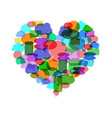colorful speech bubble heart vector image