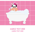 cow girl bathing vector image vector image