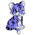 cute cartoon tiger isolated on vector image