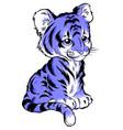 cute cartoon tiger isolated vector image