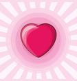 cute heart design vector image vector image