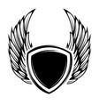 emblems with wings design elements for logo badge vector image