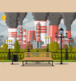 factory building and city park vector image vector image