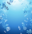 Falling snow abstract winter background vector image vector image