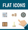 flat icon games set of dice pawn arrow and other vector image vector image