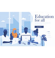 flat modern design education vector image vector image