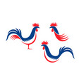 french rooster vector image vector image