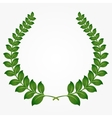 green laurel wreaths vector image