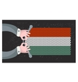 Hand made flag of Hungary vector image vector image