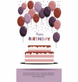 happy birthday card birthday party elements vector image
