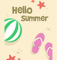 happy summer day poster style vector image vector image