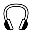 headphones music audio on white background vector image