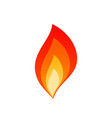 hot blaze bonfire with fire flame layers emblem vector image