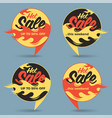 hot sale price offer deal labels stickers circle vector image vector image