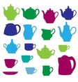 Kitchen wares objects silhouettes set vector image vector image