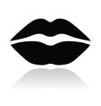 Lips black glossy icon