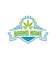 marijuana emblem logo vector image vector image