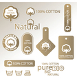 natural Cotton labels vector image