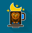 night owl and moon original design vector image vector image
