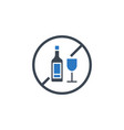 no drinking related glyph icon vector image vector image