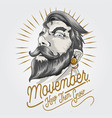 november day beard and mustache vector image vector image
