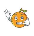 orange fruit cartoon character call me vector image vector image