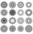 ornamental line pattern oriental geometric vector image vector image