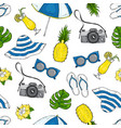 pattern from summer elements for vacation and vector image vector image