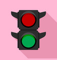 pedestrian traffic lights icon flat style vector image vector image