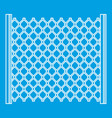 perforated gate icon outline style vector image vector image