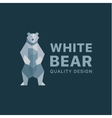 polar bear background flat polygons low poly vector image vector image