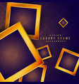 purple vintage golden frame luxury background vector image