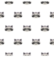 Raccoon head cartoon seamless pattern vector image vector image