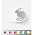 realistic design element hare vector image vector image