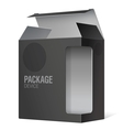Realistic Open Package Cardboard Box vector image vector image