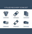 recovery icons vector image vector image