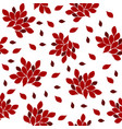 red flowers on a white vector image