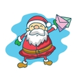 Santa Claus with mail collection vector image vector image