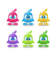 set of funny bird characters vector image vector image