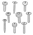 set screw vector image