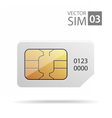 SimCard vector image vector image