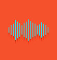 sound waves icon whitish icon on brick vector image
