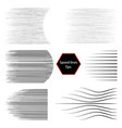 speed lines different simple black lines vector image vector image
