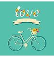 Summer poster with bicycleTypography vector image vector image
