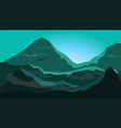 sunrise between mountain with fogsilhouette flat vector image vector image
