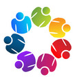 teamwork people working together logo vector image vector image