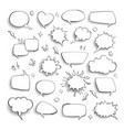 thought bubble comic cartoon empty talk and vector image vector image