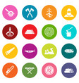 timber industry icons many colors set vector image vector image
