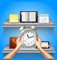 time management realistic 3d composition vector image vector image